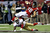Tight end Tony Gonzalez #88 of the Atlanta Falcons is tackled by cornerback Tarell Brown #25 of the San Francisco 49ers in the third quarter in the NFC Championship game at the Georgia Dome on January 20, 2013 in Atlanta, Georgia.  (Photo by Streeter Lecka/Getty Images)