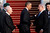 U.S. President Barack Obama (C) shakes hands with Israeli Prime Minister Benjamin Netanyahu (2nd R) as Israeli President Shimon Peres (L) looks on prior to Obama departing from Ben Gurion International Airport on March 22, 2013 in Lod' Israel.  (Photo by Lior Mizrahi/Getty Images)