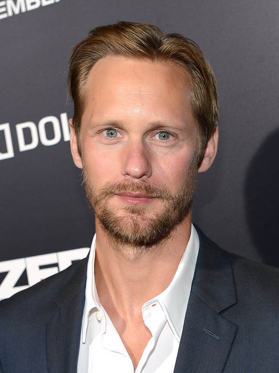 Description of . Actor Alexander Skarsgard arrives at the Los Angeles premiere of Columbia Pictures'