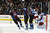 DENVER, CO. - JANUARY 24: Colorado Avalanche center Matt Duchene (9) (center) celebrates his second goal of the night with Colorado Avalanche right wing P.A. Parenteau (15) and Colorado Avalanche left wing Gabriel Landeskog (92) during the third period January 24, 2013 at Pepsi Center. Columbus Blue Jackets goalie Sergei Bobrovsky (72) kneels defected i front of the goal. The Colorado Avalanche defeated the Columbus Blue Jackets 4-0. 