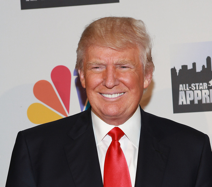 "Description of . Donald Trump attends ""All Star Celebrity Apprentice\"" Finale at Cipriani 42nd Street on May 19, 2013 in New York City.  (Photo by Robin Marchant/Getty Images)"