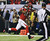 Atlanta Falcons' Julio Jones catches a 46-yard touchdown pass during the first half of the NFL football NFC Championship game against the San Francisco 49ers Sunday, Jan. 20, 2013, in Atlanta. (AP Photo/David Goldman)