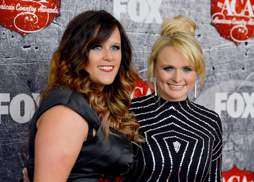 Description of . LAS VEGAS, NV - DECEMBER 10: (L-R) Singers Angaleena Presley and Miranda Lambert of Pistol Annies arrive at the 2012 American Country Awards at the Mandalay Bay Events Center on December 10, 2012 in Las Vegas, Nevada.  (Photo by Frazer Harrison/Getty Images)