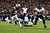 Ray Rice #27 of the Baltimore Ravens runs the ball to score a touchdown in the second quarter against Brandon Spikes #55 of the New England Patriots during the 2013 AFC Championship game at Gillette Stadium on January 20, 2013 in Foxboro, Massachusetts.  (Photo by Jared Wickerham/Getty Images)