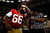 Joe Looney #66 of the San Francisco 49ers kisses his bicep as he is interviewed from the media during Super Bowl XLVII Media Day ahead of Super Bowl XLVII at the Mercedes-Benz Superdome on January 29, 2013 in New Orleans, Louisiana. The San Francisco 49ers will take on the Baltimore Ravens on February 3, 2013 at the Mercedes-Benz Superdome.  (Photo by Scott Halleran/Getty Images)