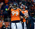 Denver Broncos defensive tackle Kevin Vickerson (99) celebrates on the field during the second half.  The Denver Broncos vs Baltimore Ravens AFC Divisional playoff game at Sports Authority Field Saturday January 12, 2013. (Photo by Tim Rasmussen,/The Denver Post)