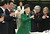 South Korea's new President Park Geun-hye, center, raises a glass in toast during the Presidential Inaugural Reception in Seoul, South Korea, Monday, Feb. 25, 2013.  (AP Photo/Yonhap, Ahn Jung-hwan)