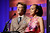 Presenters Gabriel Mann and Ashley Madekwe speak onstage during the 15th Annual Costume Designers Guild Awards with presenting sponsor Lacoste at The Beverly Hilton Hotel on February 19, 2013 in Beverly Hills, California.  (Photo by Frazer Harrison/Getty Images for CDG)