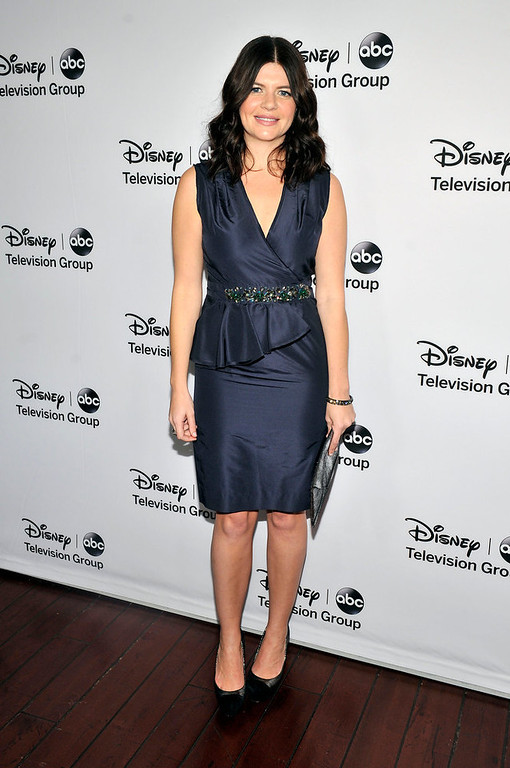 Description of . Casey Wilson arrives for the Disney ABC Television groups