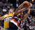 Denver Nuggets small forward Danilo Gallinari (8) battles for a rebound with Portland Trail Blazers small forward Nicolas Batum (88) during the first quarter Tuesday, January 15, 2013, at Pepsi Center. John Leyba, The Denver Post