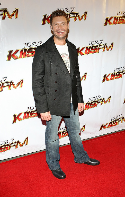 Description of . In this Dec. 6, 2008 file photo, Ryan Seacrest attends the 102.7 KIIS-FM's Jingle Ball 08, in Anaheim, Calif. In June 2010, a Los Angeles judge sentenced Chidi Uzomah Jr. to two years in state prison after he showed up with a knife at E! Entertainment Television, where Seacrest works. Uzomah was on probation at the time for a previous incident in which he attacked Seacrest's bodyguards outside an event and was ordered to stay away from the radio and TV personality for 10 years. (AP Photo/Shea Walsh, file)