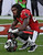 Tampa Bay Buccaneers strong safety Mark Barron (24) reacts after the Philadelphia Eagles scored the game-winning touchdown with no time left on the clock during the fourth quarter of an NFL football game Sunday, Dec. 9, 2012, in Tampa, Fla. (AP Photo/Chris O'Meara)