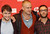 l-r  Daniel Radcliffe, Ben Foster and director John Krokidas pose for pictures before the premiere of 