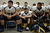 Rifle players listen to a pep talk before the Class 3A Championship football game, Saturday December 01, 2012.  The Silver Creek Raptors beat  the Rifle Bears 32 - 15 at Legacy Stadium in Aurora, CO. Craig F. Walker, The Denver Post