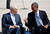 U.S. President Barack Obama (R) sits next to Israel's President Shimon Peres during an official welcoming ceremony at Ben Gurion International Airport near Tel Aviv March 20, 2013. REUTERS/Darren Whiteside