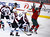 Minnesota Wild left wing Dany Heatley (R) celebrates after he scores a goal against Colorado Avalanche goalie Semyon Varlamov during the second period of their NHL ice hockey game in St. Paul, Minnesota, January 19, 2013. REUTERS/Eric Miller (UNITED STATES - Tags: SPORT ICE HOCKEY)