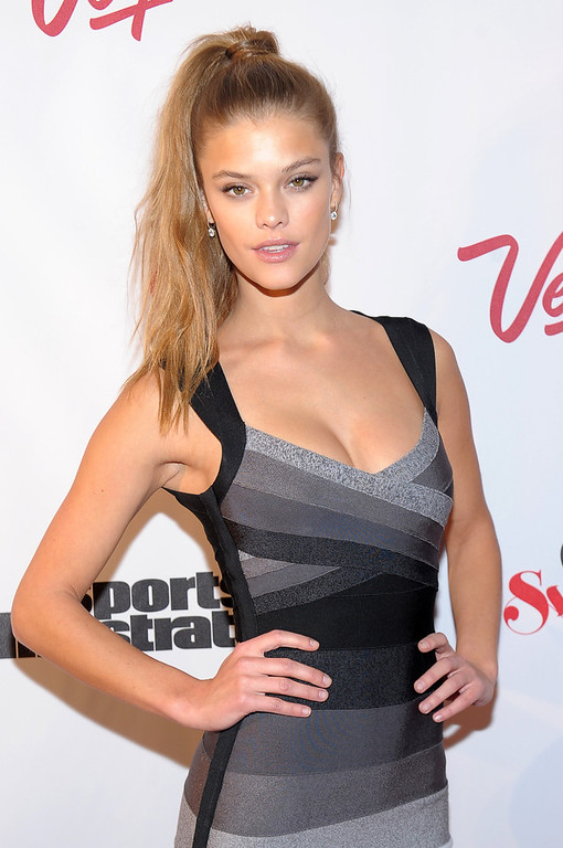 Description of . SI Swimsuit Model Nina Agdal attends Club SI Swimsuit at 1 OAK Nightclub at The Mirage Hotel & Casino on February 14, 2013 in Las Vegas, Nevada.  (Photo by Michael Loccisano/Getty Images for Sports Illustrated)
