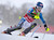 Mikaela Shiffrin of the U.S. clears a gate during the first run of the World Cup Women's Slalom race in Maribor, January 27, 2013.    REUTERS/Srdjan Zivulovic