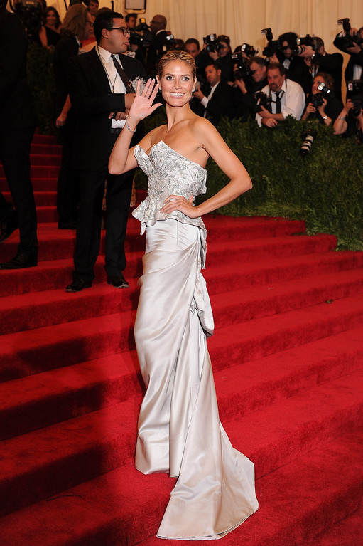 Description of . Heidi Klum attends the Costume Institute Gala for the