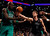 Boston Celtics forward Kevin Garnett and Brooklyn Nets center Brook Lopez (R) fight for a loose ball in the third quarter of their NBA basketball game in New York, December 25, 2012.    REUTERS/Adam Hunger