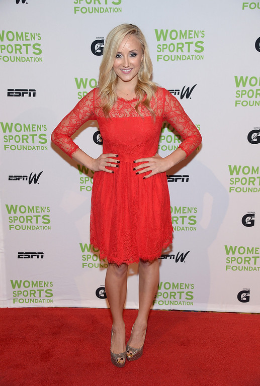 Description of . NEW YORK, NY - OCTOBER 16:  Olympic gymnast Nastia Liukin attends the 34th annual Salute to Women In Sports Awards at Cipriani, Wall Street on October 16, 2013 in New York City.  (Photo by Michael Loccisano/Getty Images for the Women's Sports Foundation)