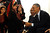 U.S. President Barack Obama (R) is welcomed by Palestinian girls during his visit to Al Bera Youth Center March 21, 2013 in Ramallah, the West Bank.   (Photo by Alaa Badarneh-Pool/Getty Images)