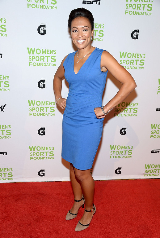 Description of . NEW YORK, NY - OCTOBER 16:  Former Olympic soccer player Angela Hucles attends the 34th annual Salute to Women In Sports Awards at Cipriani, Wall Street on October 16, 2013 in New York City.  (Photo by Michael Loccisano/Getty Images for the Women's Sports Foundation)