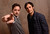 Director Pablo Larrain and actor Gael Garcia Bernal pose for a portrait during the 2013 Sundance Film Festival at the Getty Images Portrait Studio at Village at the Lift on January 18, 2013 in Park City, Utah.  (Photo by Larry Busacca/Getty Images)