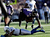 Ed Dickson #84 of the Baltimore Ravens makes a reception against Antoine Bethea #41 of the Indianapolis Colts during the AFC Wild Card Playoff Game at M&T Bank Stadium on January 6, 2013 in Baltimore, Maryland.  (Photo by Rob Carr/Getty Images)