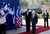 U.S. President Barack Obama (C) stands with Israel's President Shimon Peres on the red carpet during a welcoming ceremony at Peres' residence in Jerusalem March 20, 2013.REUTERS/Ronen Zvulun