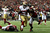 LaMichael James #23 of the San Francisco 49ers scores a 15-yard rushing touchdown in the second quarter against the Atlanta Falcons in the NFC Championship game at the Georgia Dome on January 20, 2013 in Atlanta, Georgia.  (Photo by Streeter Lecka/Getty Images)