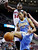 Denver Nuggets forward Anthony Randolph (15) loses a rebound against the defense of Detroit Pistons forward Jason Maxiell (54) in the first half of an NBA basketball game, Tuesday, Dec. 11, 2012, in Auburn Hills, Mich. (AP Photo/Duane Burleson)