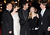 Actors Russell Crowe, Anne Hathaway, Hugh Jackman, Amanda Seyfriend and director Tom Hooper attend the