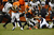 Denver Broncos running back Ronnie Hillman (21) picks up a first down with two minutes left in the game. The Denver Broncos vs Baltimore Ravens AFC Divisional playoff game at Sports Authority Field Saturday January 12, 2013. (Photo by Joe Amon,/The Denver Post)
