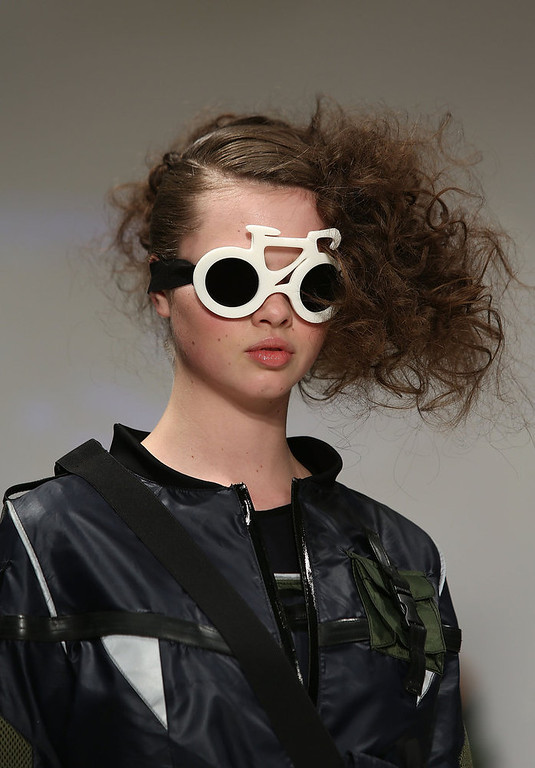 Description of . A model walks the runway at the Fad show showcasing designs by fifteen fashion students across the UK during London Fashion Week Fall/Winter 2013/14 at Freemasons Hall on February 19, 2013 in London, England.  (Photo by Tim Whitby/Getty Images)