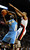 Denver Nuggets point guard Ty Lawson (3) drives to the basket on Portland Trail Blazers point guard Damian Lillard (0) during the first quarter of their NBA basketball game in Portland, Oregon, February 27, 2013.  REUTERS/Steve Dykes