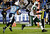 New York Jets tight end Jeff Cumberland (86) heads to the end zone for a touchdown ahead of Tennessee Titans' Michael Griffin (33) on a 17-yard pass play in the third quarter of an NFL football game, Monday, Dec. 17, 2012, in Nashville, Tenn. (AP Photo/Wade Payne)