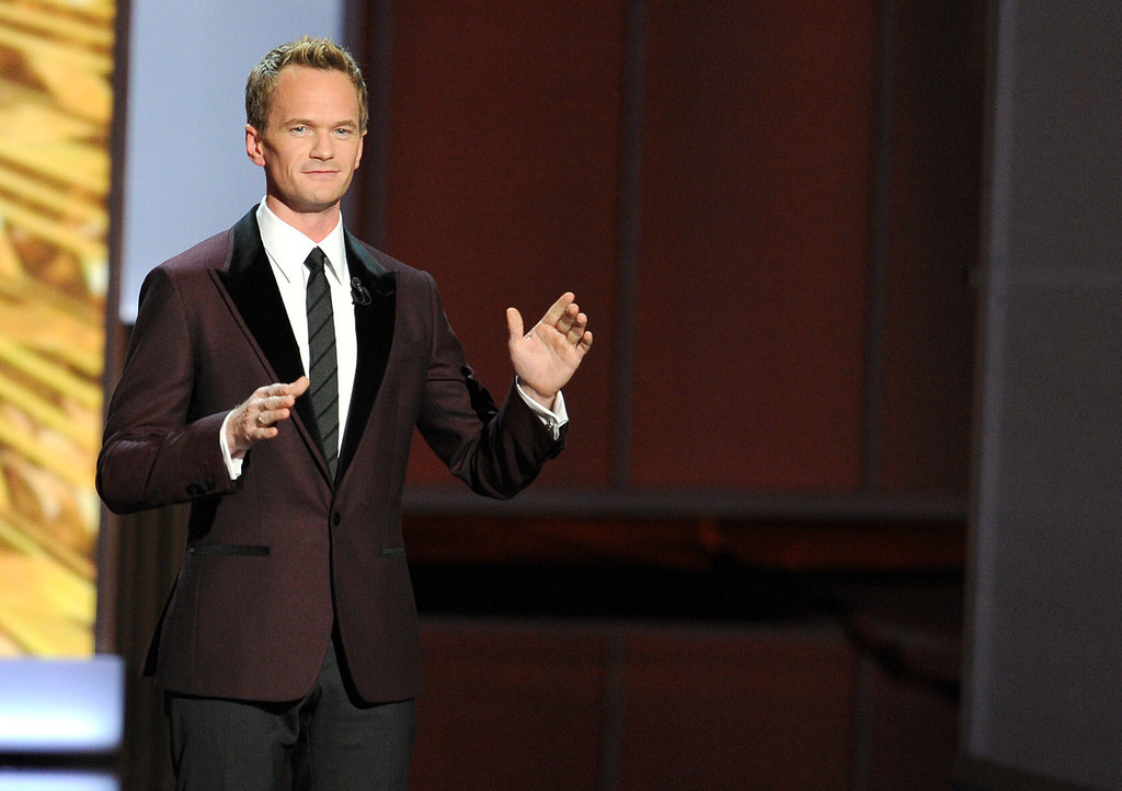 Description of . Host Neil Patrick Harris speaks onstage during the 65th Annual Primetime Emmy Awards held at Nokia Theatre L.A. Live on September 22, 2013 in Los Angeles, California.  (Photo by Kevin Winter/Getty Images)