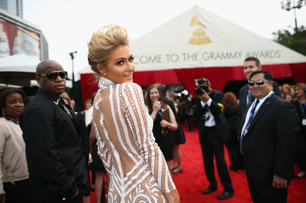 Description of . Paris Hilton attends the 56th GRAMMY Awards at Staples Center on January 26, 2014 in Los Angeles, California.  (Photo by Christopher Polk/Getty Images for NARAS)