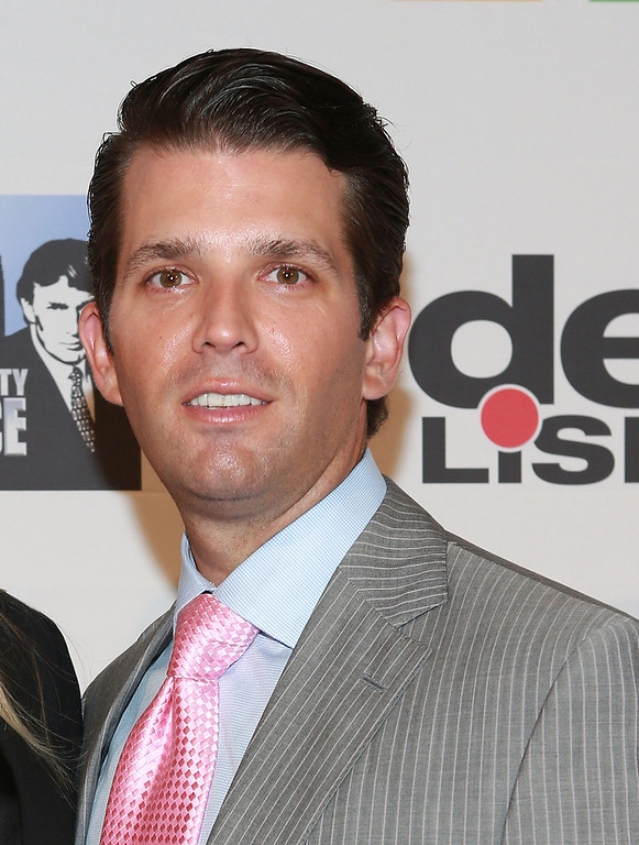 "Description of . Donald Trump Jr. attends ""All Star Celebrity Apprentice\"" Finale at Cipriani 42nd Street on May 19, 2013 in New York City.  (Photo by Robin Marchant/Getty Images)"