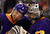 Los Angeles Kings defenseman Jake Muzzin, left, congratulates goalie Jonathan Quick after their NHL hockey game against the Colorado Avalanche, Saturday, Feb. 23, 2013, in Los Angeles. The Kings won 4-1.  (AP Photo/Mark J. Terrill)