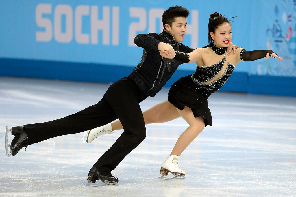 Description of . American skaters Alex and Maia Shibutani perform during the figure skating ice dancing free dance medal round. Sochi 2014 Winter Olympics on Monday, February 17, 2014. (Photo by AAron Ontiveroz/The Denver Post)