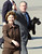 President Bush, along with wife Laura and dog Barney, gives thumbs-up before departing the TSTC Airfield Sunday Nov. 30, 2003 in Waco, Texas. The Bushes spent the Thanksgiving holiday at their nearby Crawford, Texas ranch. (AP Photo/Duane A. Laverty)