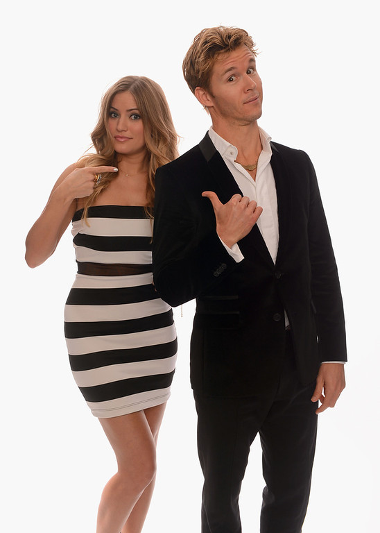 Description of . Internet personality Justine Ezarik and actor Ryan Kwanten pose for a portrait in the TV Guide Portrait Studio at the 3rd Annual Streamy Awards at Hollywood Palladium on February 17, 2013 in Hollywood, California.  (Photo by Mark Davis/Getty Images for TV Guide)
