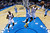 Oklahoma City Thunder Oklahoma City Thunder shoots in front of Denver Nuggets forward Kenneth Faried (35) and teammate Serge Ibaka (9) in the third quarter of an NBA basketball game in Oklahoma City, Tuesday, March 19, 2013. Denver won 114-104. (AP Photo/Sue Ogrocki)