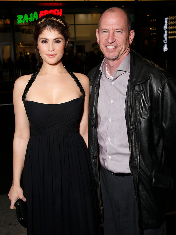 Description of . Gemma Arterton and Vice Chairman of Paramount Pictures Corporation Rob Moore arrive at the premiere of