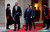 President Barack Obama walks with Jordan's King Abdullah II to participate in an official arrival ceremony, Friday, March 22, 2013, at Al-Hummar Palace, the residence of Jordanian King Abdullah II, in Amman, Jordan. (AP Photo/Carolyn Kaster)