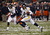 Stedman Bailey #3 of the West Virginia Mountaineers runs the ball for a touchdown against the Syracuse Orange during the New Era Pinstripe Bowl at Yankee Stadium on December 29, 2012 in the Bronx borough of New York City.  (Photo by Jeff Zelevansky/Getty Images)