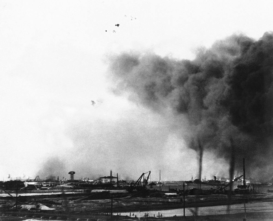 Description of . Attack on Pearl Harbor, Hawaii, Dec. 7, 1941. (AP Photo)
