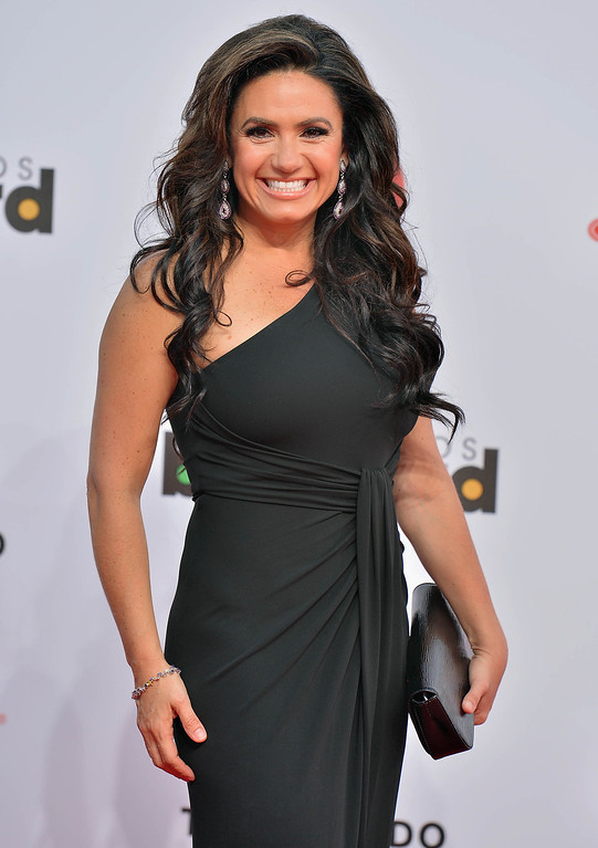 Description of . MIAMI, FL - APRIL 25:  Penelope Menchaca arrives at Billboard Latin Music Awards 2013 at Bank United Center on April 25, 2013 in Miami, Florida.  (Photo by Gustavo Caballero/Getty Images)